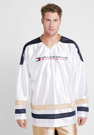 RETRO BLOCK LOGO TEE - Bluzka z długim rękawem - white