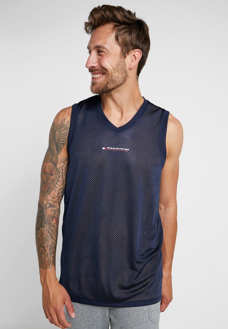 Tommy Sport - GRAPHICS TANK - Sports shirt - sport navy