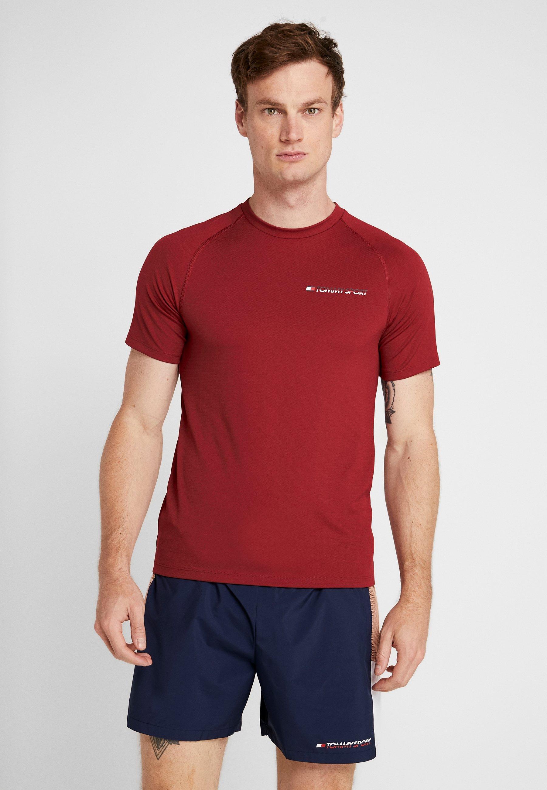 PerformanceT Tommy shirt Sport Red Basique Biking 0wknOP
