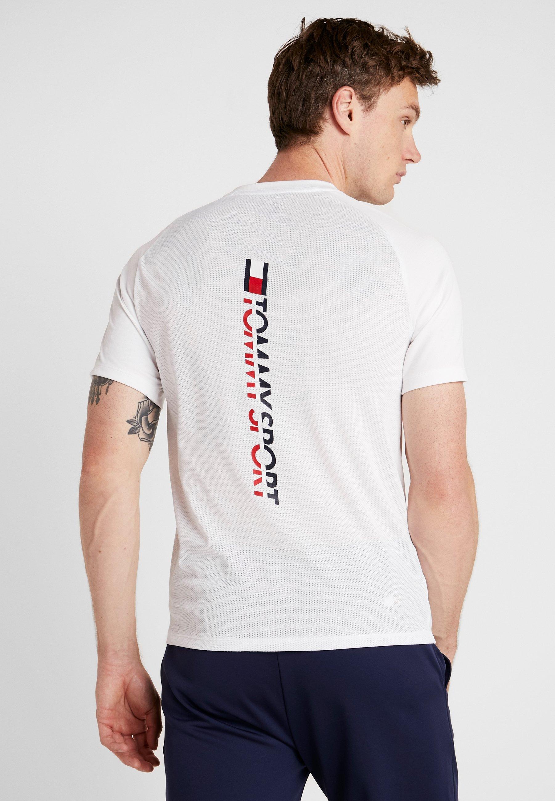 Tommy shirt Imprimé LogoT White Back Sport UzpGqVMS