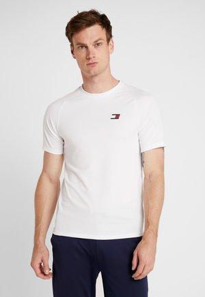 BACK LOGO - T-shirt z nadrukiem - white