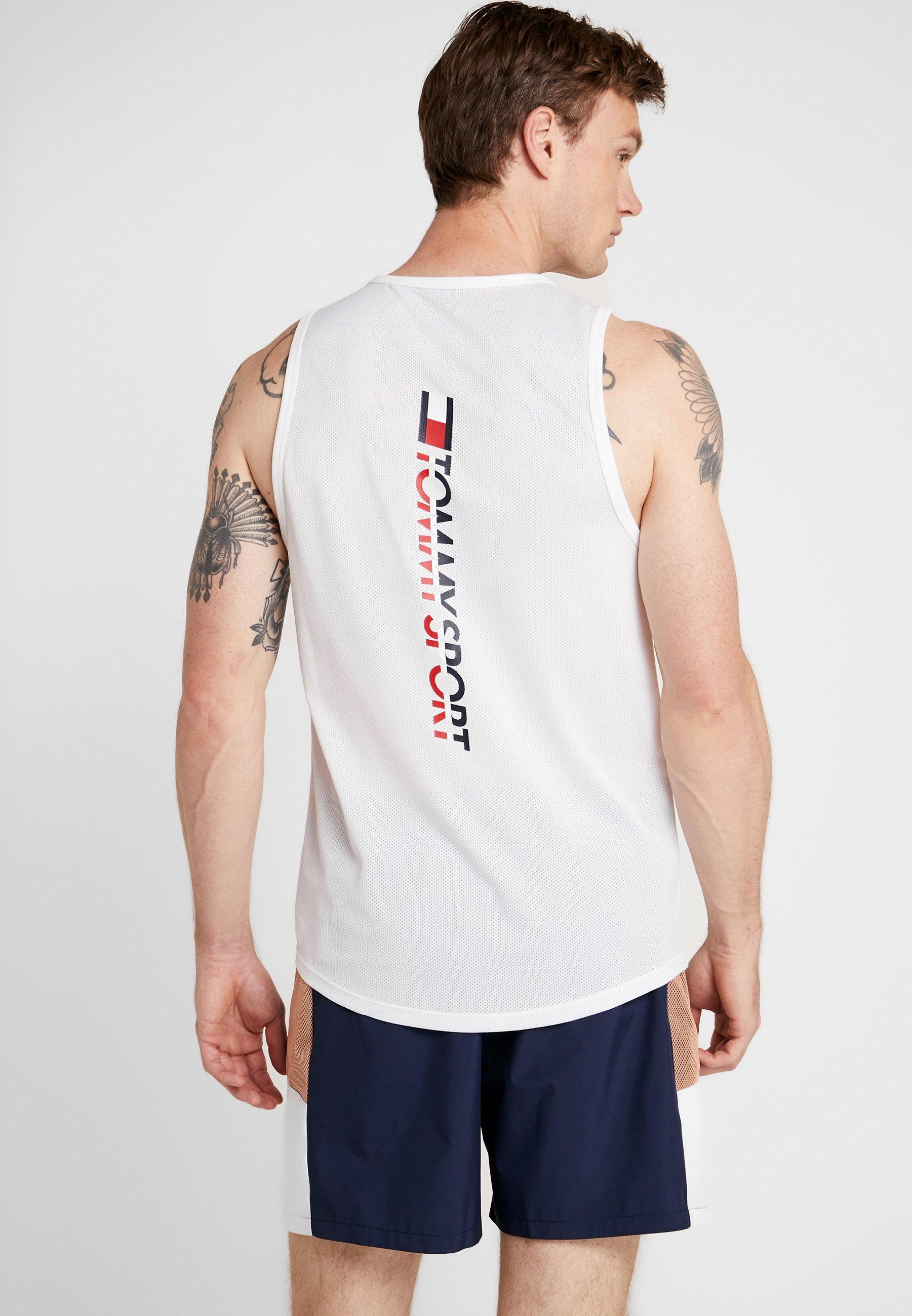 White De Tank Back shirt Tommy Sport LogoT PkXZiOu