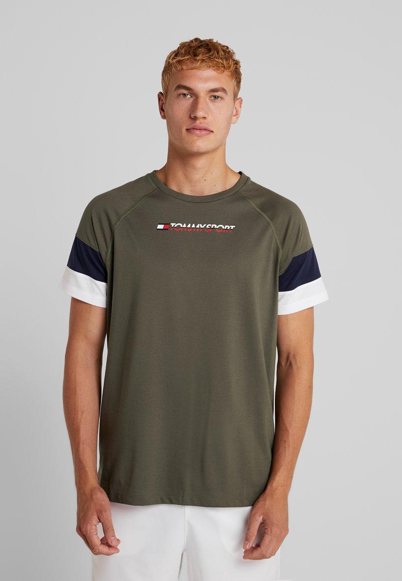 Tommy Sport - BLOCK TEE - T-Shirt print - beetle