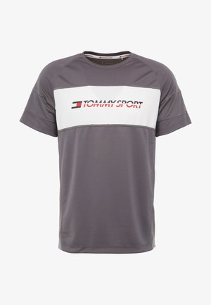 PERFORMANCE TEE - Print T-shirt - grey