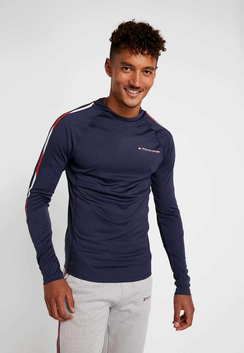 Tommy Sport - LONGSLEEVE WITH TAPE - Funktionsshirt - navy