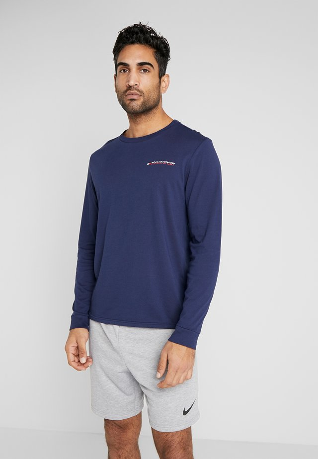 LONG SLEEVE TEE - Treningsskjorter - blue