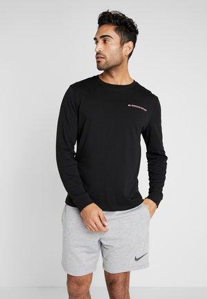 LONG SLEEVE TEE - Sports shirt - black