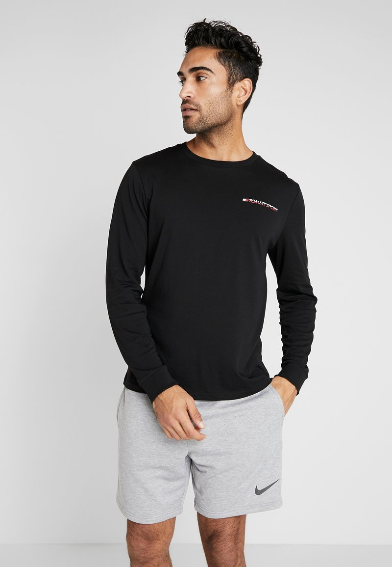Tommy Sport - LONG SLEEVE TEE - Sports shirt - black