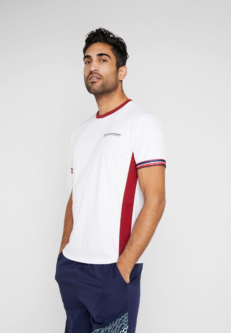 Tommy Sport - CLASSICS TEE - T-shirt print - white