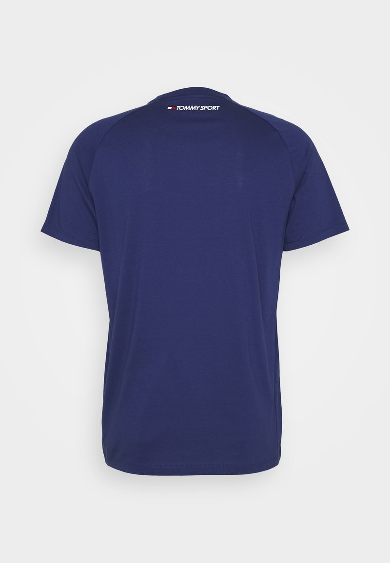 Tommy Sport CHEST LOGO - T-shirts - blue