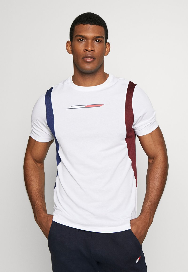 Tommy Sport - BLOCK PANEL - T-shirts med print - white