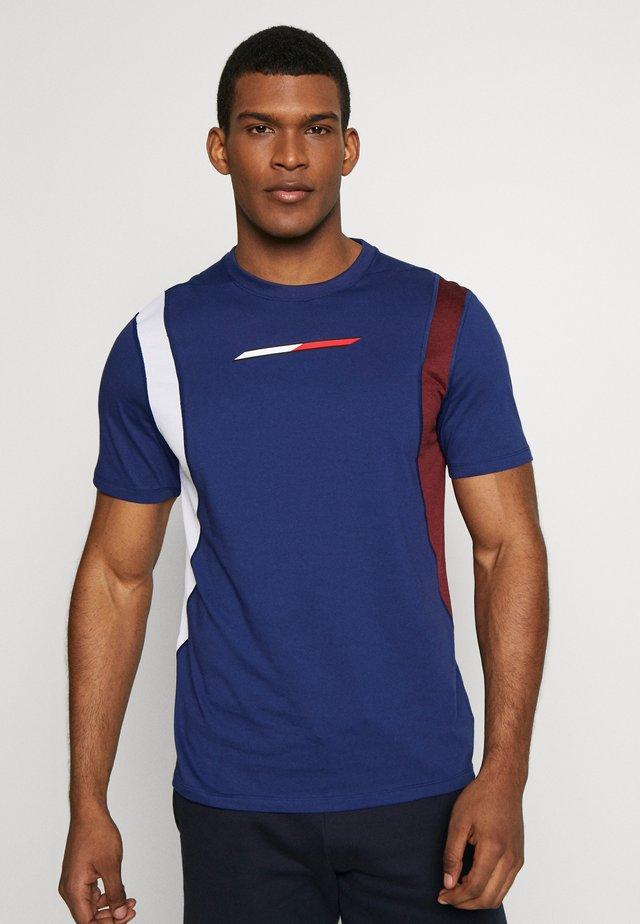 BLOCK PANEL - T-shirts print - blue