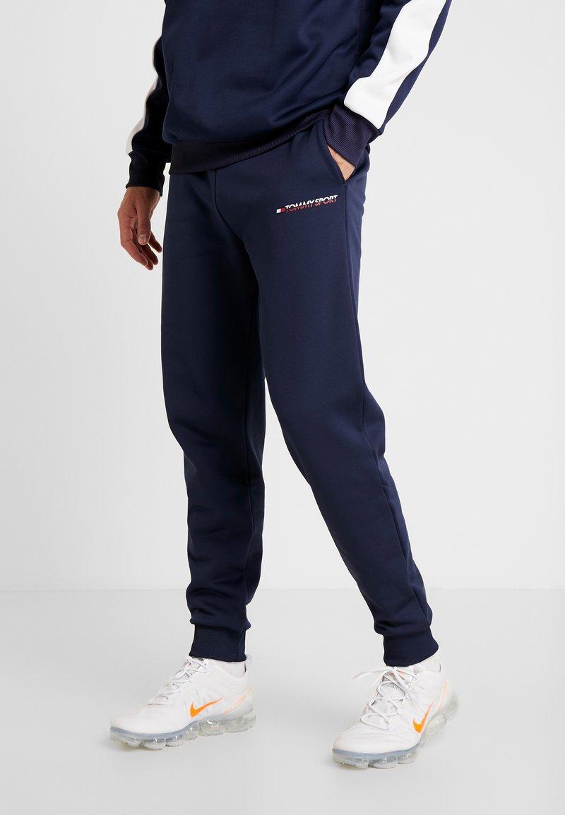 Tommy Sport - JOGGER LOGO - Teplákové kalhoty - sport navy