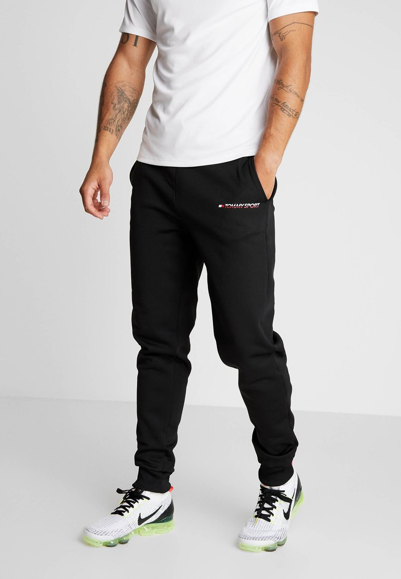Tommy Sport - JOGGER LOGO - Tracksuit bottoms - black