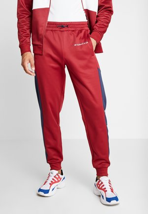 BLOCK TRACK PANT - Trainingsbroek - biking red