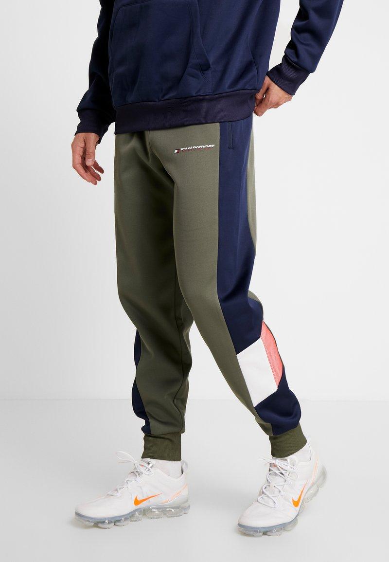 Tommy Sport - BLOCKED PANT - Pantalones deportivos - beetle