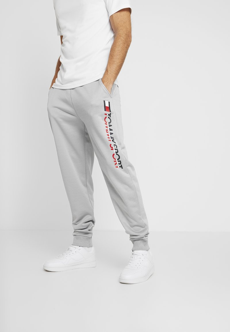 Tommy Sport - LOGO - Pantalon de survêtement - grey heather