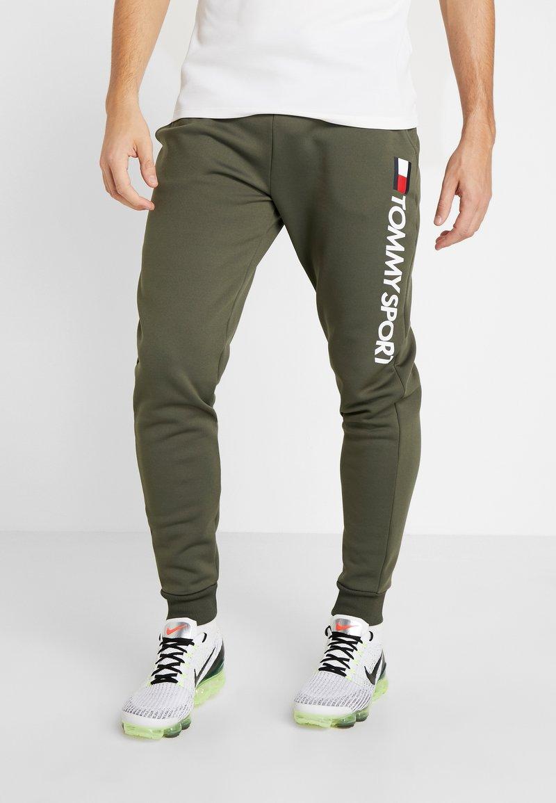 Tommy Sport - LOGO  - Pantalones deportivos - green