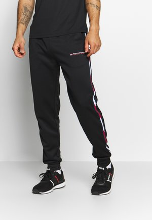 TAPE TRACK PANT - Tracksuit bottoms - black