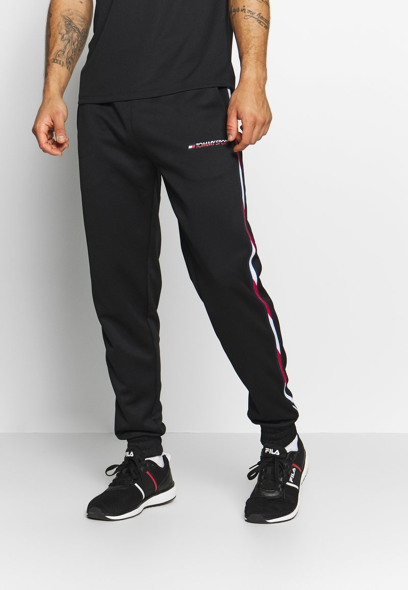 Tommy Sport - TAPE TRACK PANT - Tracksuit bottoms - black