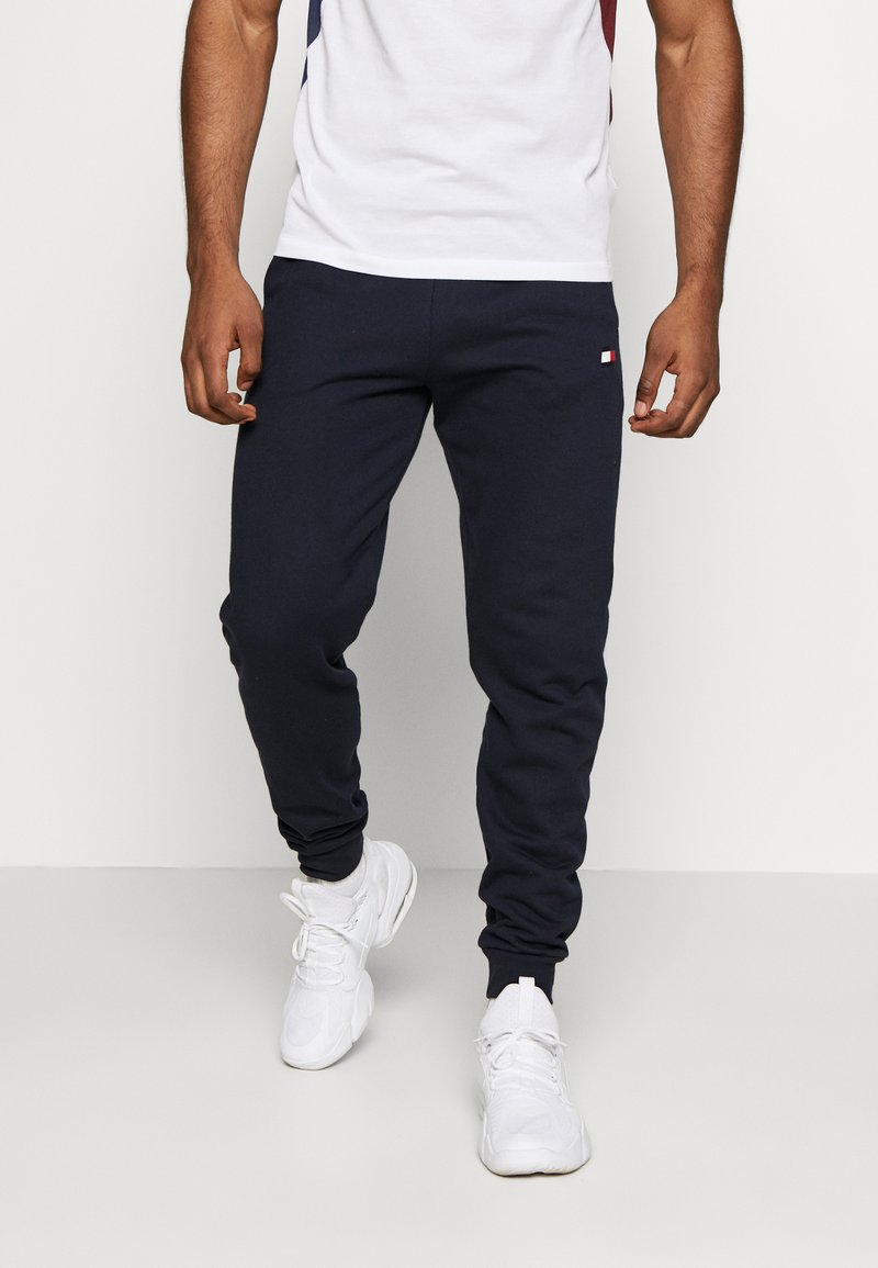 Tommy Sport - CUFF JOGGER LOGO - Tracksuit bottoms - blue