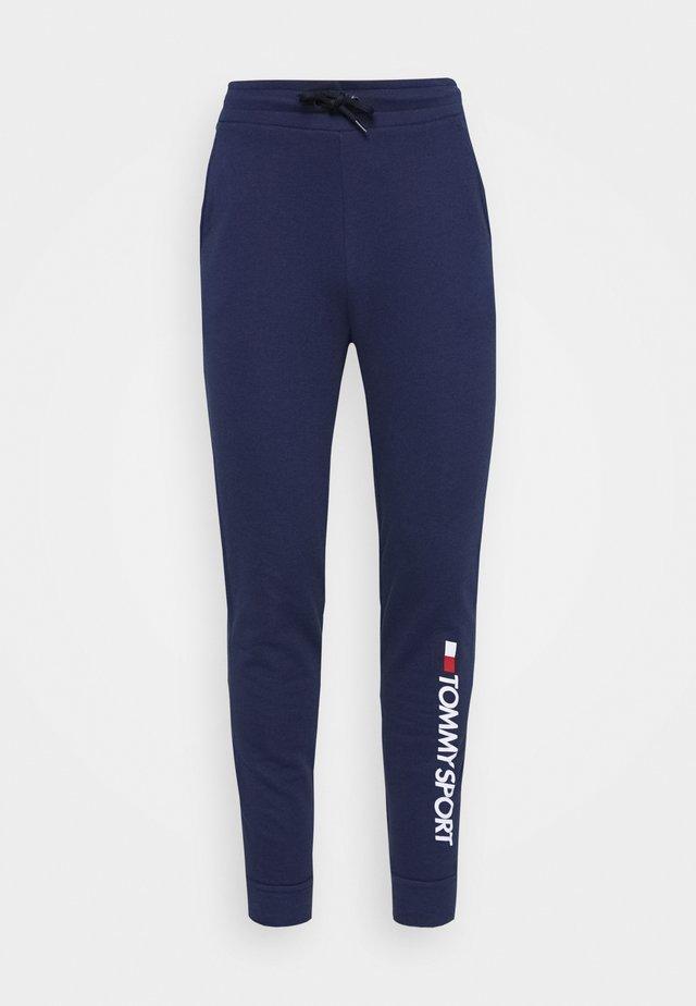 CUFF PANT LOGO - Træningsbukser - blue