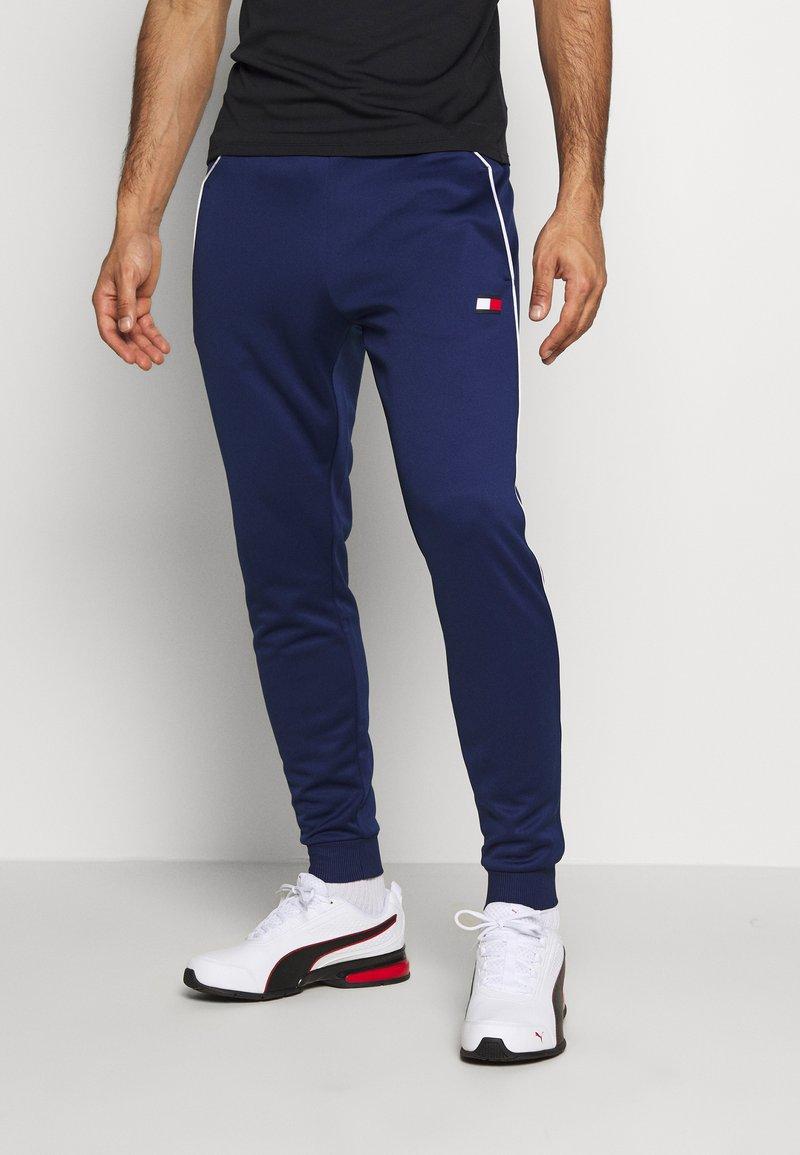 Tommy Sport - CUFFED TRAINING PANT - Trainingsbroek - blue
