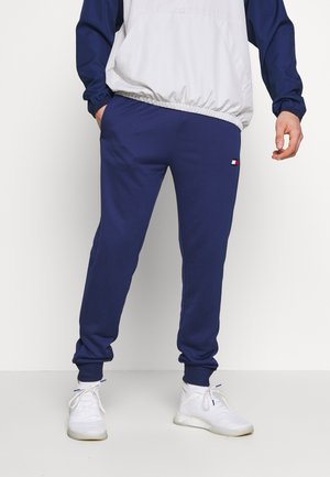 PRINTED CUFFED TRACK PANT - Tracksuit bottoms - blue