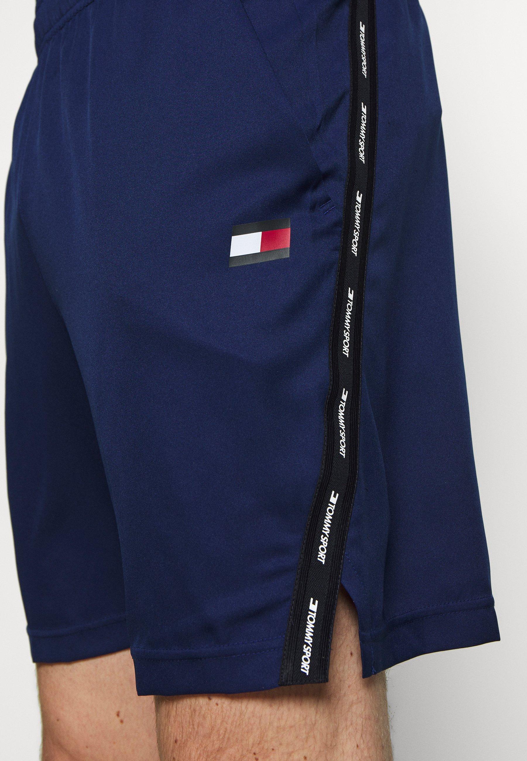 Tommy Sport TAPE SHORT - Sports shorts - blue
