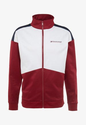 BLOCK TRACK JACKET - Veste polaire - biking red