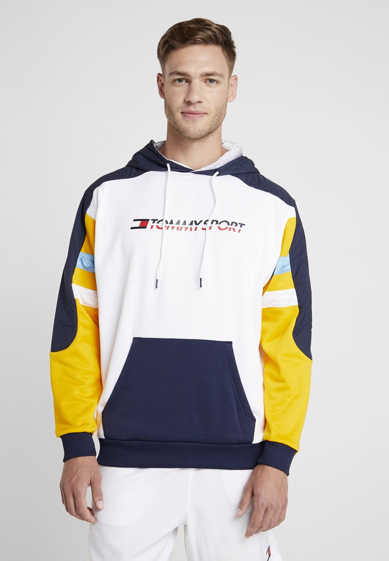 Tommy Sport - RETRO BLOCK HOODY LOGO - Sweat à capuche - gold fusion