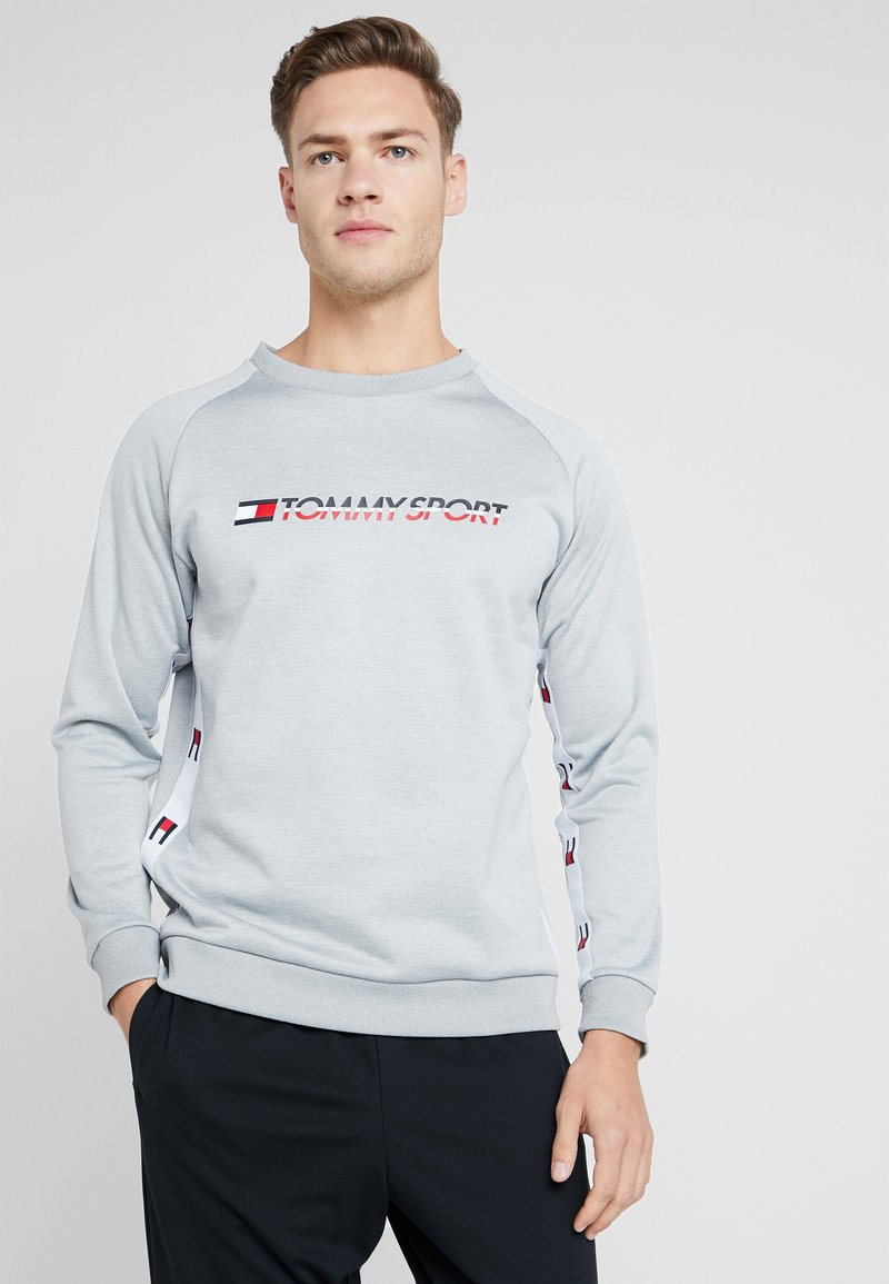 Tommy Sport - TAPE CREW LOGO - Sweatshirt - grey heather