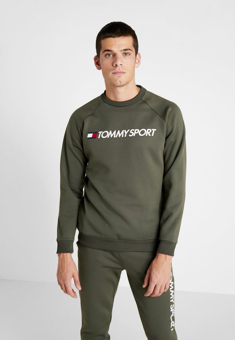 Tommy Sport - LOGO CREW NECK - Sweatshirt - green