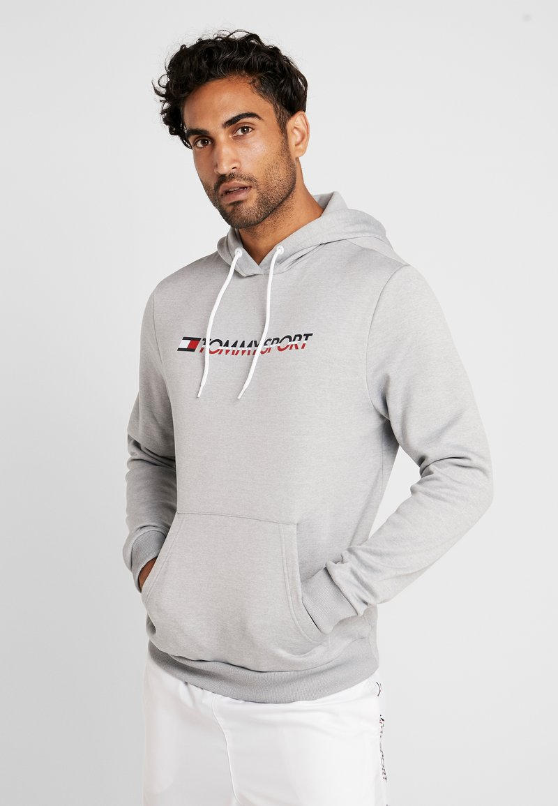 Tommy Sport - LOGO HOODY - Jersey con capucha - grey heather