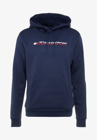 Tommy Sport - LOGO HOODY - Jersey con capucha - blue - 3