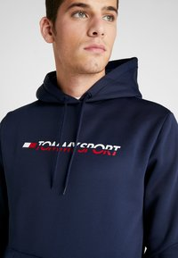 Tommy Sport - LOGO HOODY - Jersey con capucha - blue - 4