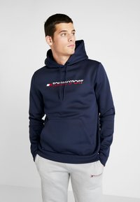 Tommy Sport - LOGO HOODY - Jersey con capucha - blue - 0