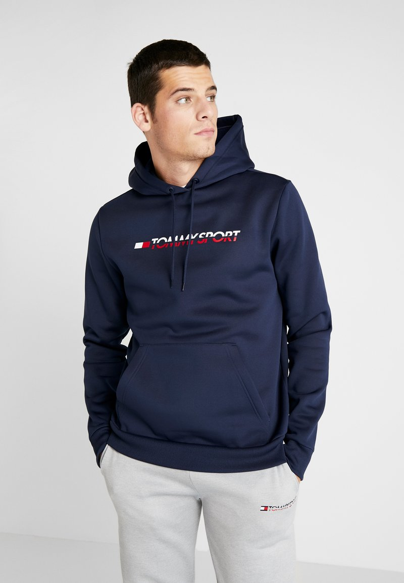 Tommy Sport - LOGO HOODY - Jersey con capucha - blue