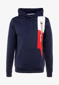 Tommy Sport - GRAPHIC FLAG  - Jersey con capucha - sport navy - 3