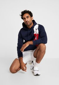 Tommy Sport - GRAPHIC FLAG  - Jersey con capucha - sport navy - 1