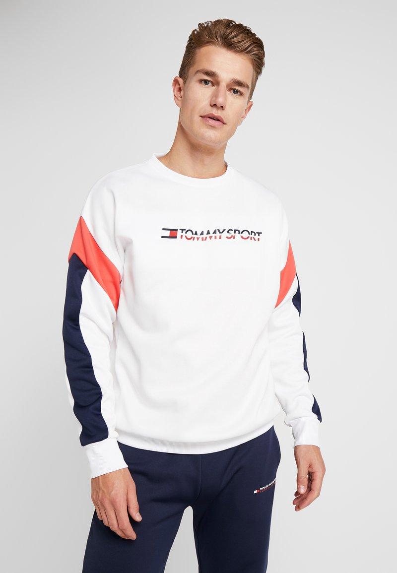 Tommy Sport - BLOCK CREW - Sweatshirt - classic white