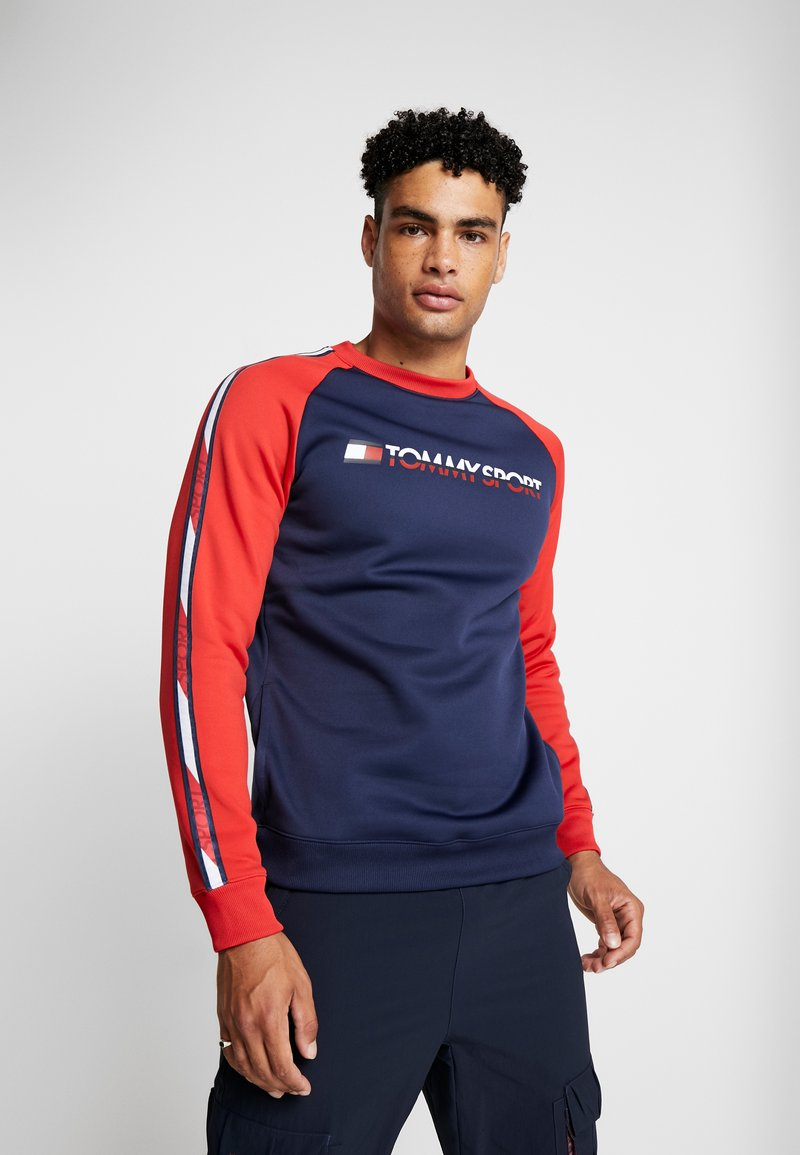 Tommy Sport - TAPE CREW - Sweater - sport navy