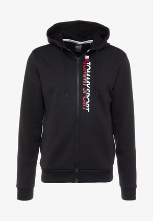 ZIP UP HOODY - Zip-up hoodie - black
