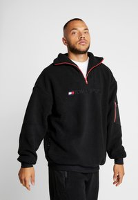 Tommy Sport - SHERPA 1/4 ZIP - Fleece trui - black - 0