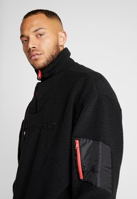Tommy Sport - SHERPA 1/4 ZIP - Fleece trui - black - 3