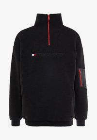 Tommy Sport - SHERPA 1/4 ZIP - Fleece trui - black