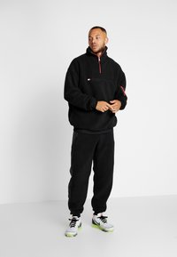 Tommy Sport - SHERPA 1/4 ZIP - Fleece trui - black - 1