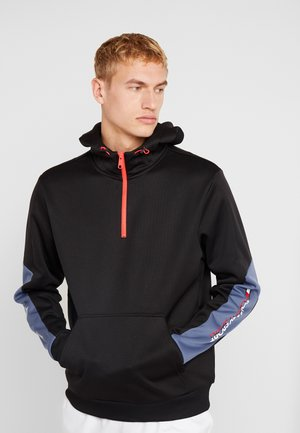 WINTERIZED 1/4 ZIP HOODY - Hoodie - black