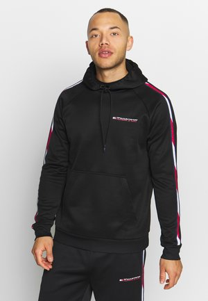 TAPE HOODY - Jersey con capucha - black