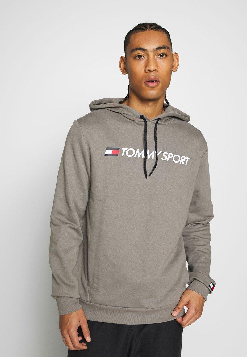 Tommy Sport - HOODY LOGO  - Bluza z kapturem - grey